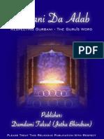 Gurbani Da Adab Final Complete