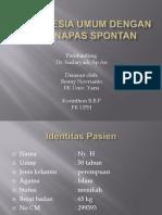 Anestesia Umum Dengan Ett Napas Spontan Oke