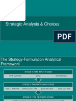 Strategic Analysis & Choices