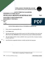 Soalan Percubaan Khb-kt Pmr 2012 - Selangor