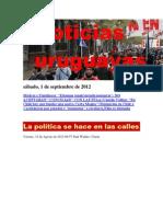 Noticias Uruguayas sábado 1 de setiembre del 2012