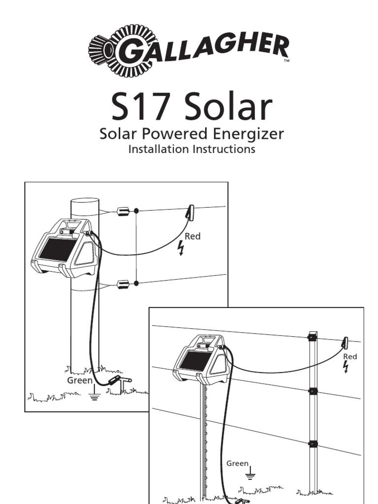 3E1399 S17 Solar Powered Energizer Installation