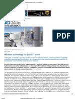 Wireless Technology for Process World - Www.aandd24
