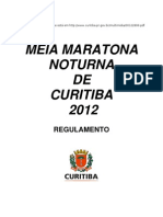 Regulamento da Meia Maratona Noturna de Curitiba 2012