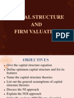 capital structure and firm evalution