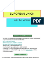 Emission Standard EU SUA Japan