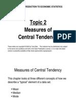 Measure of Central Tendency TOT 2