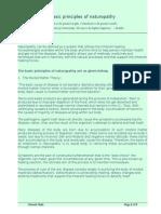 Basic Principles of naturopathy