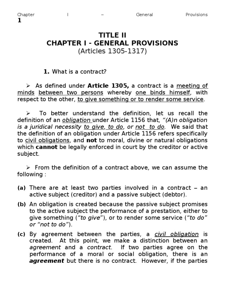 Chapter 1 general provisions on contracts arts 1305 1317 chapter 1 general provisions on contracts arts 1305 1317 mortgage law foreclosure platinumwayz