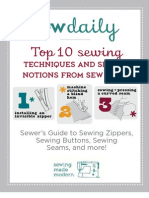 Top 10 Sewing Techniques