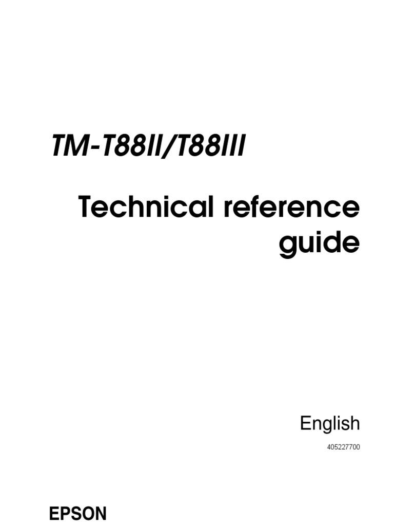EPSON TM-T88II PARTIAL CUT DRIVER DOWNLOAD