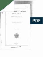 Handbook 993 50lb Demo Bomb 1920