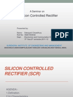 Silicon Controlled Rectifier(Scr)