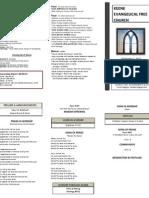 Church Bulletin -September 2