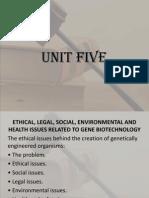 Unit 5aABT Bioethics