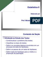 Estatística II - Unidade 3 - Teste de Hipóteses