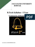 B.tech MDU Syllabus 1yr (Common)