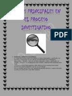 Etapas Principales en El Proceso Investigativo