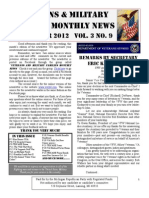 Veterans & Military Families Monthly News-September 2012