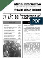 """Boletín Informativo IU Badolatosa - nº 04 - UN AÑO DE """"RESPUESTAS"""""""