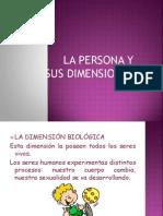 La Persona y Sus Dimensiones