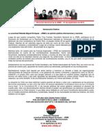 Declaración Pública JRME - 01 de septiembre de 2012