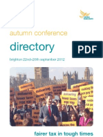 Liberal Democrat Autumn Conference 2012 Directory