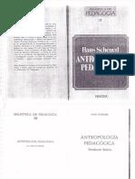 Antropología pedagógica. Introducción histórica