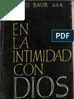 Baur, Benito - En La Intimidad Con Dios