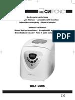 clatronic bba 2605  Bedienungsanleitung