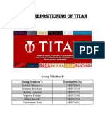 Brand Repositioning of Titan Report