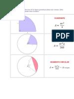 as fórmulas para calcular áreas de las figuras geométricas planas más comunes