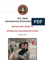 US Army Information Operations Instructors Guide