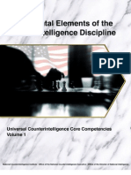 Fundamental Elements of the Counterintelligence Discipline