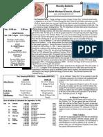St. Michael's Septmember 2, 2012 Bulletin