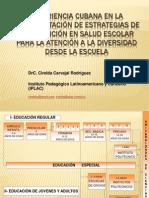 Experiencia cubana en la implementación de estrategias de SALUD