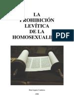 Brus Leguas Contreras - La Prohibicion Levitica de La Homosexualidad