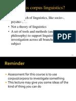 What is Corpus Linguistics