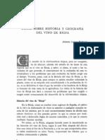 Notas Sobre Historia y Geografía del Vino de Rioja