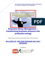 Stress Management inhouse program facilitated by G K Lim and Danniel Lim
