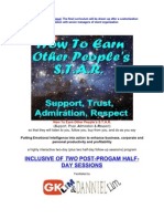 How to Earn Other People's STAR (Support, Trust, Admiration, Respect) inhouse program facilitated by G K Lim and Danniel Lim