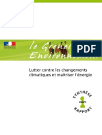 Grenelle Climat _rapport