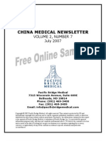 China Medical Newsletter Sample