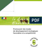 Grenelle Economie & Emplois _rapport