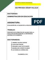 TRABAJO EN EVALUACIÓN DE LA CALIDAD DE LA EDUCACIÓN