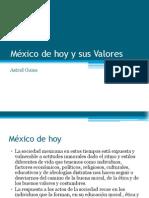 México de hoy y sus Valores