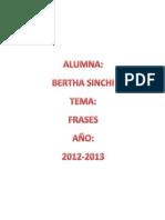 Frases  BERTHA SINCHI