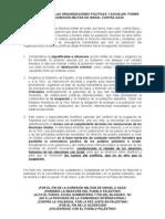 DeclaraciÓn de Las Organizaciones PolÍticas y Sociales