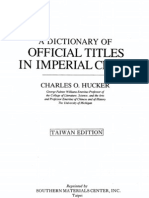 Hucker, Charles - A Dictionary of Officials Titles in Imperial China
