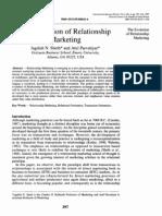 1995 Sheth y Parvatiyar the Evolution of Relationship Marketing